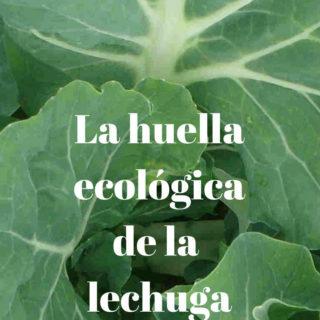 La huella ecológica de lechuga orgánica
