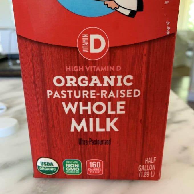 leche entera organica para queso fresco